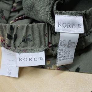 Koret Skirts - Koret Spring long Skirt and Button Sleeveless top